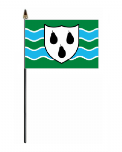 Worcestershire Hand Flag - Small.